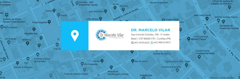 Contato - localização | Dr. Marcelo Vilar