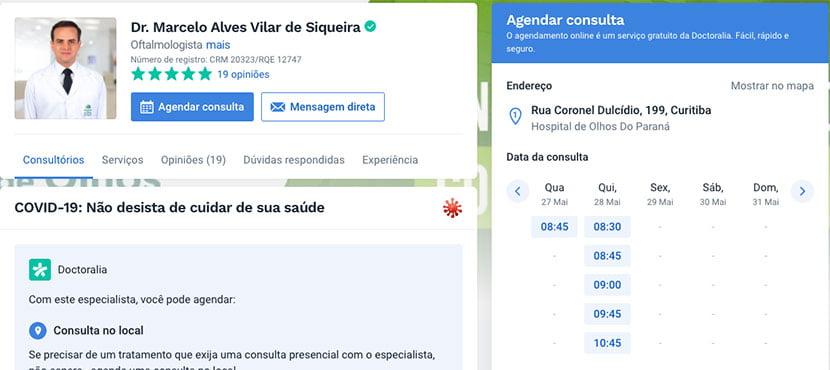 Como agendar sua consulta com o Doutor Marcelo Vilar no Doctoralia em 5 passos - Imagem 5 - Blog | Dr. Marcelo Vilar
